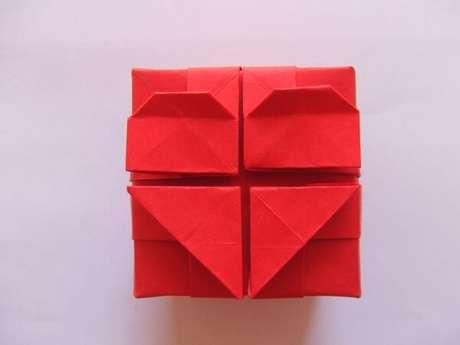 30. Corações de origami existem diferentes modelos – Foto: Via Pinterest