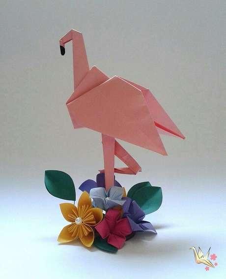 29. Animais como o flamingo também podem ser fitos em origami – Foto: Via Pinterest