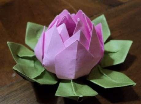 7. A flor de lótus também pode ser feita através da técnica do origami – Foto: Via Pinterest