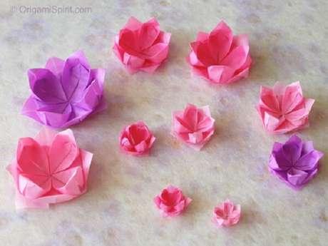 23. Assim como em diversas cores e tamanhos – Foto: Origami spirit