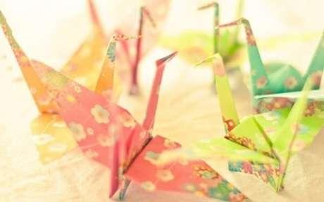 3. O origami fácil pássaro é um dos mais conhecidos do mundo – Foto: Muito Chique
