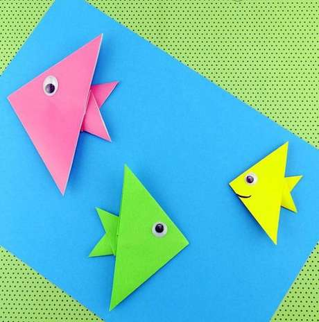 41. Peixes coloridos de origami – Foto: Via Pinterest