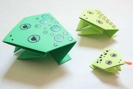 9. Sapinhos de origami são fáceis de fazer e ficam lindos – Foto: Mil dicas de mãe