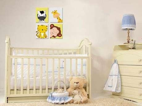 3- O quadro para quarto de bebê realça a decoração em tons pasteis. Fonte: Carlitoz