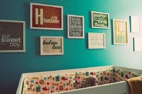34- O quadro para quarto de bebê tem frases como tema. Fonte: Quarto de bebê