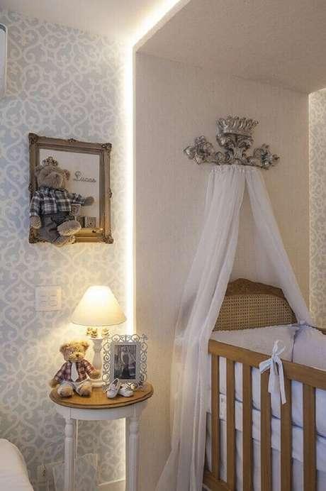 7- O quadro de quarto de bebê em 3D tem ursinho de pelúcia e dados colados. Fonte: Gestação Bebê