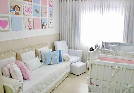 39- O conjunto de quadros para quarto de gêmeos tem cores e temas variados. Fonte: Quadros Decorativos