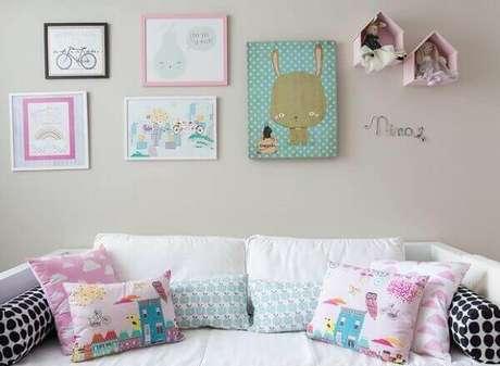 56- O conjunto de quadro para quarto de bebê possui temas variados. Fonte: Casa e jardim