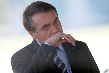 Bolsonaro chega ao Palácio da Alvorada 8/4/2020 REUTERS/Adriano Machado