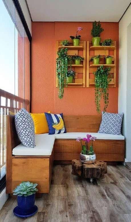 69. Uma varanda confortável e colorida é tudo – Foto: Via Pinterest
