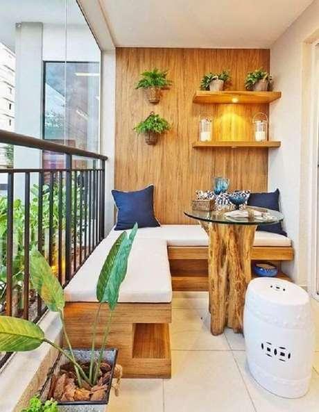 65. Otimizar o espaço limitado da varanda também é uma ótima opção – Foto: Via Pinterest
