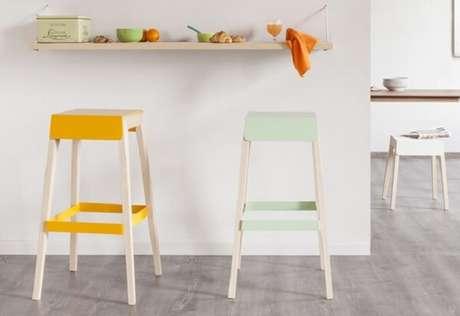50. Tons claros do banco de madeira são ótimas opções para ambientes clean – Foto: Matéria Incógnita
