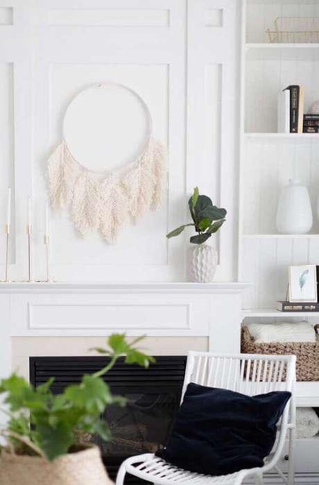 9. Decoração clean para sala de estar com filtro dos sonhos – Foto: Pinterest