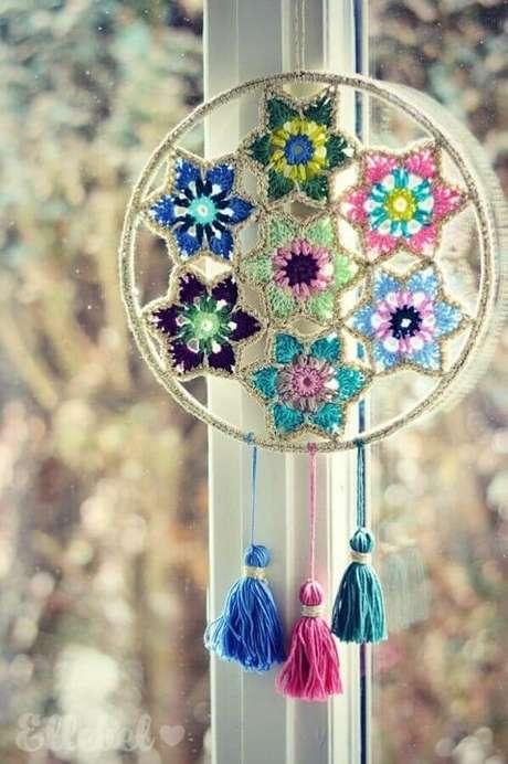 40. Modelo colorido de filtro dos sonhos – Foto: Pinterest