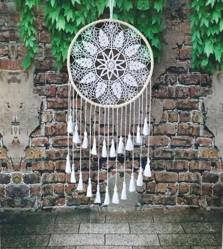 42. Filtro dos sonhos feito em crochê – Foto: Etsy