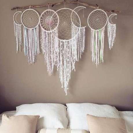 58. Decoração para quarto com vários filtros dos sonhos branco – Foto: Arteblog