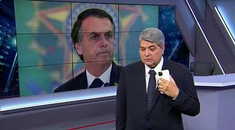 Bolsonaro conversa com Datena na Band: a crescente audiência da TV interessa ao governo