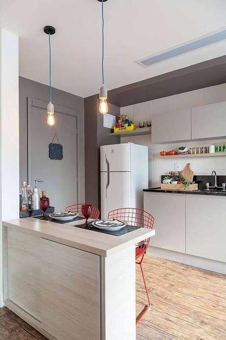 4. Os modelos minimalistas de pendentes para cozinha estão super em alta