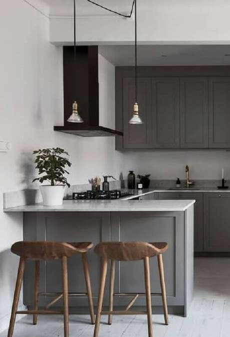 77. Prefira modelos de pendentes para cozinha que sejam fáceis de limpar – Foto: Behance