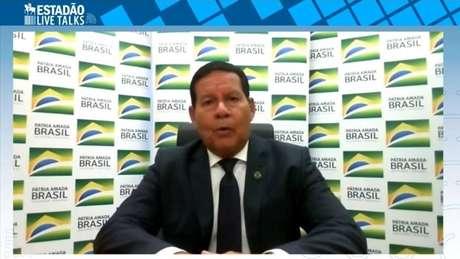 Vice-presidente Hamilton Mourão no 'Estadão Live Talks'
