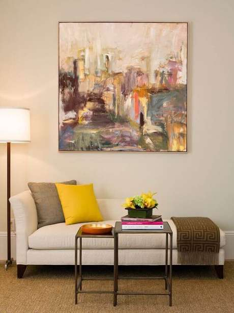 1. Invista em um modelo de quadro abstrato para a decoração de sua casa – Foto: Webcomunica