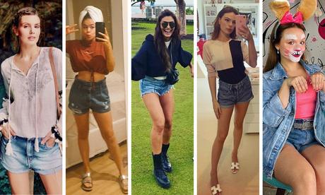 Looks das famosas com shorts jeans (Fotos: Instagram/Reprodução)