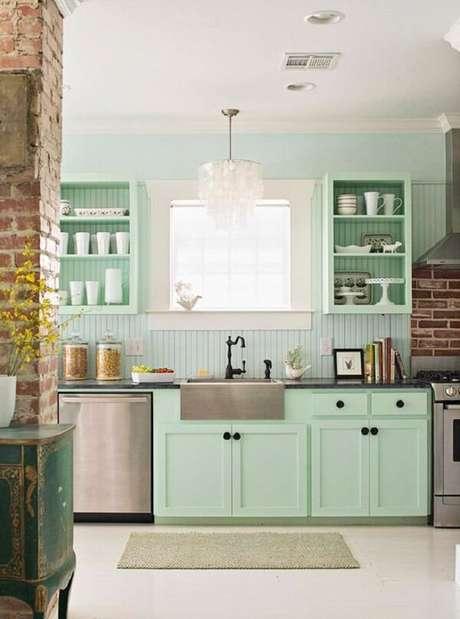50. O minimalismo do ambiente na decoração vintage é encantador – Foto: Via Pinterest