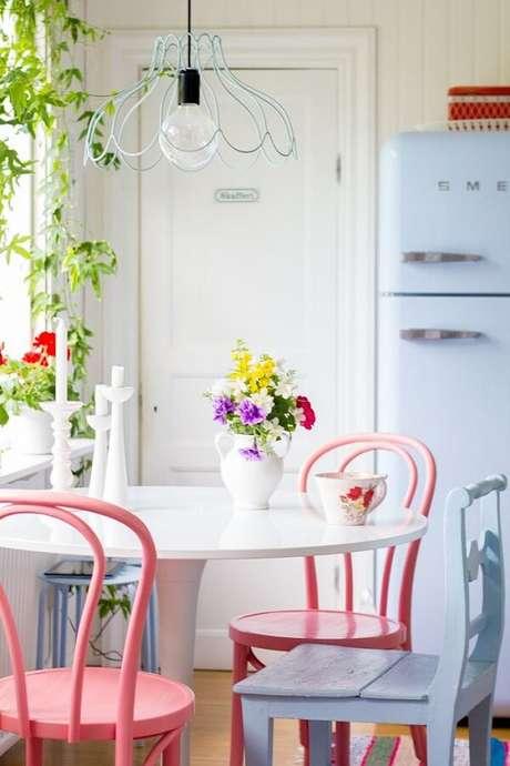 48. Os detalhes são importantes em uma decoração de cozinha vintage – Foto: Via Pinterest