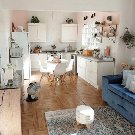 32. O estilo de cozinha vintage pode ser bem delicado também – Foto: Via Pinterest