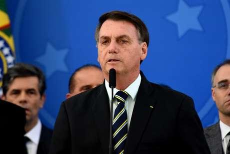 Coletiva do Presidente Jair Bolsonaro apos pedido de demissao do Ex-Ministro da Justica Sergio Moro