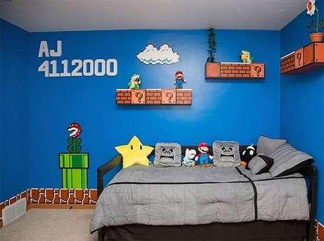 6. A franquia Mario é clássica e, por isso, também é inspiração para muitos quartos de gamers