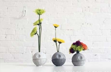 28. Esses vasos que imitam a estrela da morte são muito bonitos