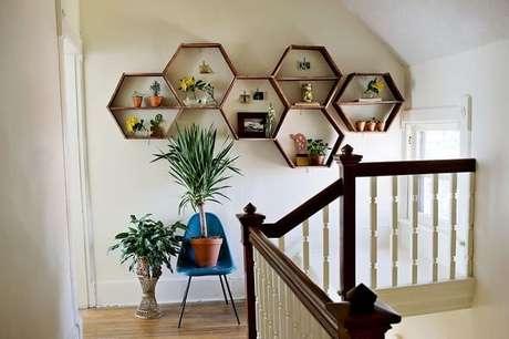 16. Um jardim interno com os nichos também fica lindo e criativo – Foto: A casa que minha vó queria