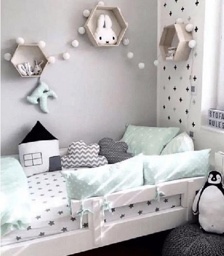 36. A decoração de um quarto infantil ganha um grande aliado – Foto: HRK obra