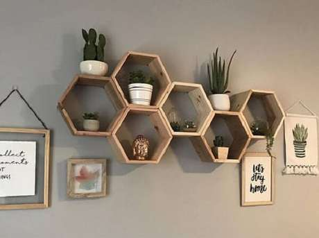 23. Combinando organização e item de decoração – Foto: Via Pinterest
