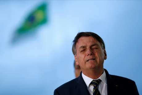 Presidente Jair  Bolsonaro em Brasília 20/04/2020 REUTERS/Ueslei Marcelino