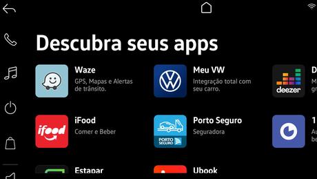 """Nova central multimídia VW Play fará do Nivus um verdadeiro """"smartcar""""."""