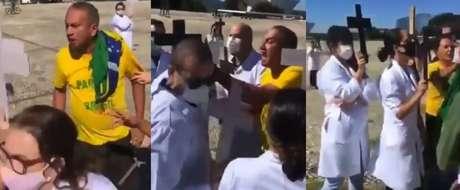 Enfermeiros tiveram que deixar o local acompanhado de policiais militares