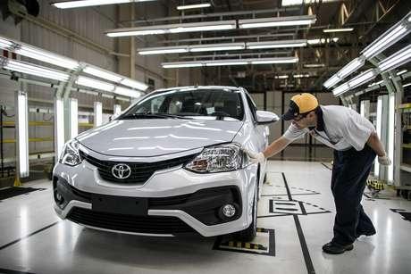 Toyota Etios teve 620 mil unidades produzidas em Sorocaba (SP).