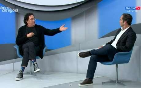 Por causa de crítica a Raí, Caio teve discussão com Casagrande no 'Bem, Amigos' (Foto: Reprodução/SporTV)