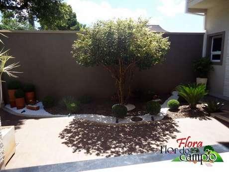 66. As pedras para jardim deixam o jardim com um visual bem diferenciado. Projeto de Flora Flor do Campo