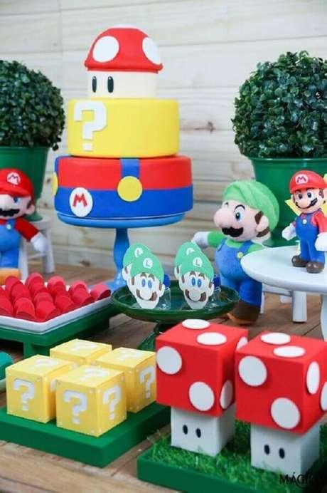 14. Jogos de videogame também podem se tornar temas de mesversário – Foto: Que Seja Mágico
