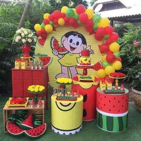 15. Festa da Magali como temas de mesversário – Foto: Pinterest