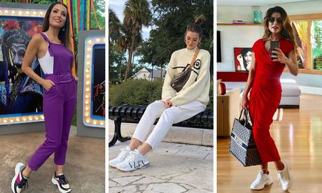 """Famosas mostram como usar """"tênis feio"""" (Fotos: Instagram/Reprodução)"""