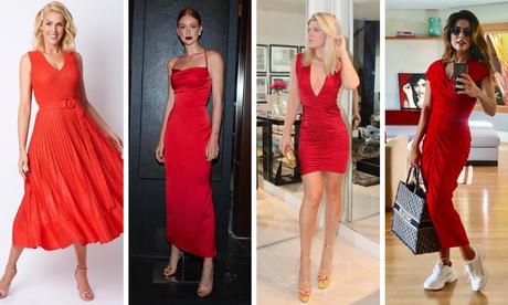 Famosas provam elegância do vestido vermelho (Fotos: Instagram/Reprodução)
