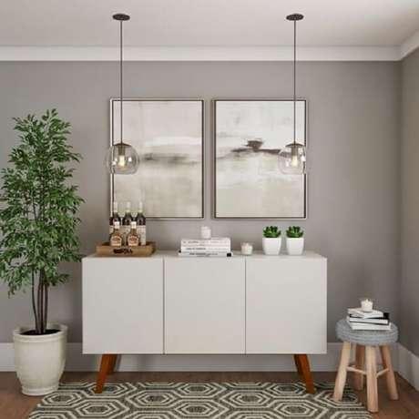 74. Buffet aparador branco com portas. Fonte: Pinterest