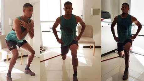 Joilson segue com os treinos em casa. (Foto: Divulgação/AV Assessoria de Imprensa)