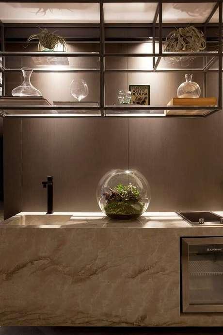 47. Um terrário na cozinha é capaz de transformar o ambiente.