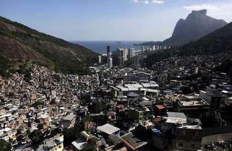 Favela da Rocinha, no Rio de Janeiro 29/04/2020 REUTERS/Ricardo Moraes