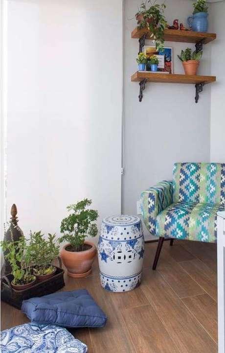 45. Casa com porcelanato amadeirado – Via: Pinterest